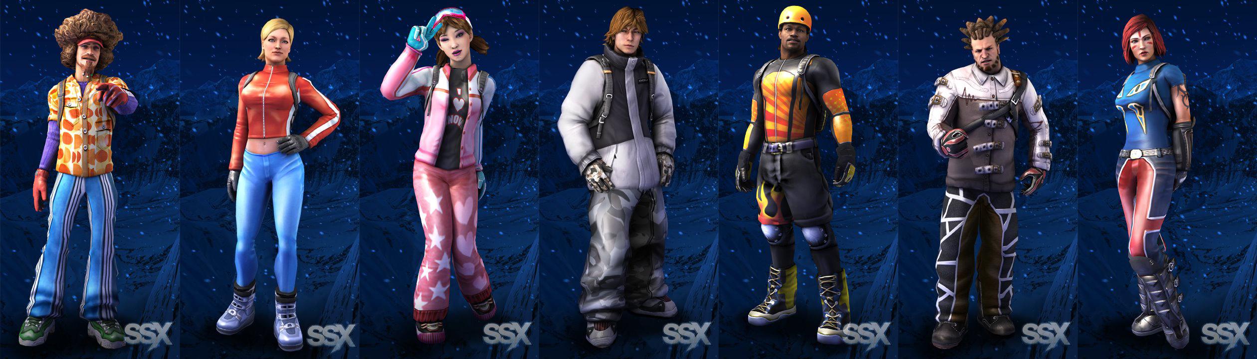 fantastic fun machine: SSX Characters